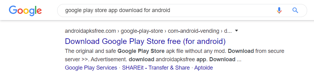 Download google play store apk in mobile